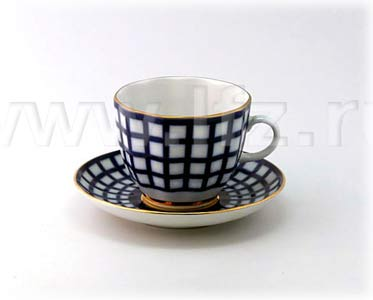 Quatro Coffee Cup and Saucer