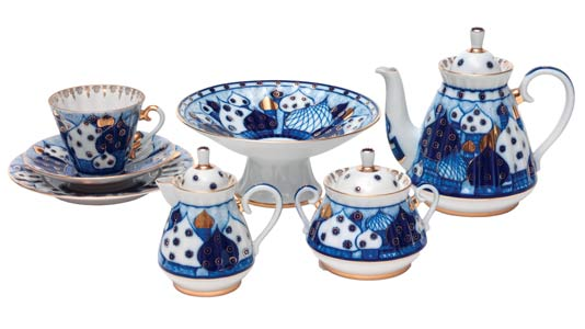 Russian Domes 22pc. Tea Set for 6