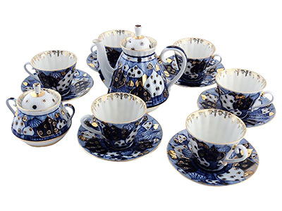 Russian Domes 14pc. Tea Set for 6