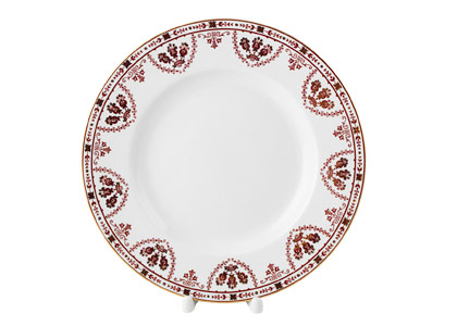 Terracotta Frieze Dinner Plate, 9 3/4
