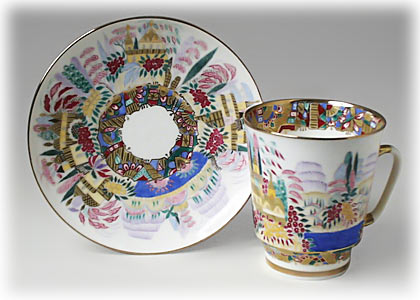 Spring Cup and Saucer, bone, May Shape