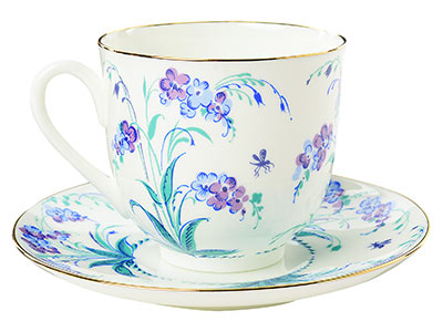 Forget-Me-Not Bone China Coffee Cup and Saucer