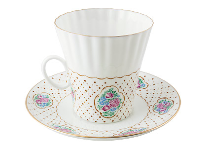 Roses in Medallion B/C cup and saucer