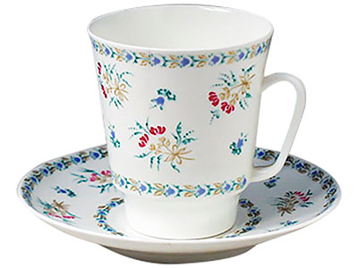 Blue Bells Cup and Saucer, Bone China