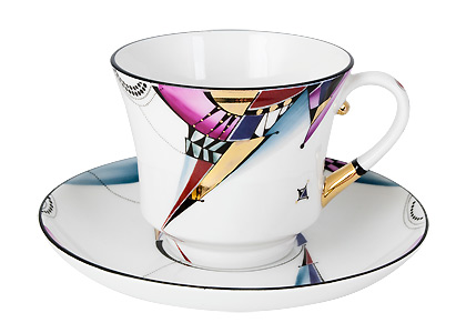 Lightning Cup and Saucer