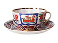 Russian Lubok Cup and Saucer - Lomonosov Porcelain