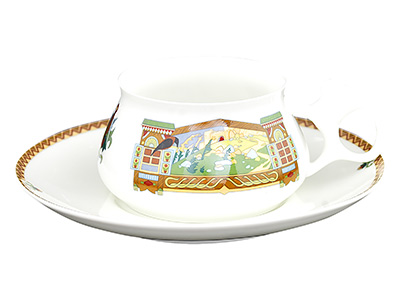 Bilibin's Fairy Tale Landscape Bone China Tea Cup and Saucer