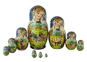 Summer Troika Nesting Doll 10pc./10