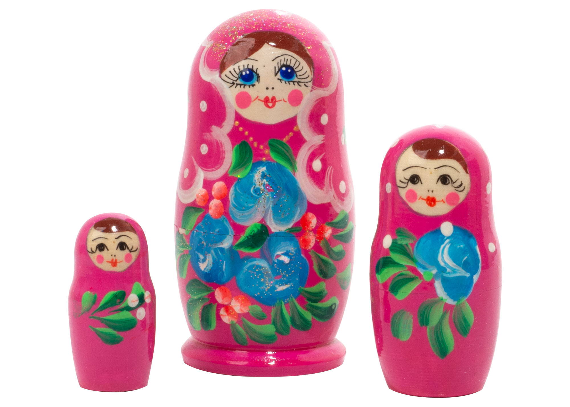 "Buy Classic Floral Nesting Doll 3pc./3"" at GoldenCockerel.com"