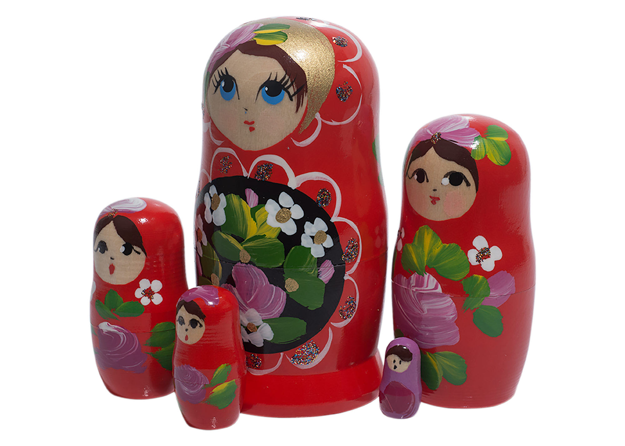 "Buy Red Art Babooshka Doll 5pc./4"" at GoldenCockerel.com"