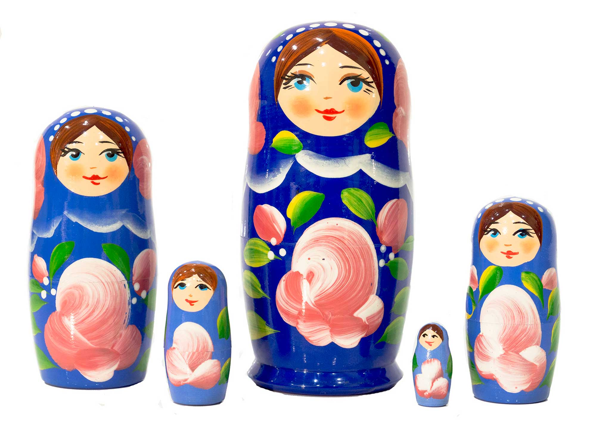 "Buy Blue Gradient Nesting Doll 5pc./4"" at GoldenCockerel.com"