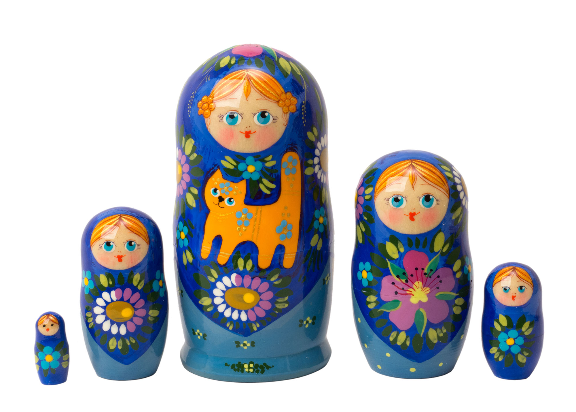 "Buy Elena's Lovely Cat Nesting Doll 5pc./4"" at GoldenCockerel.com"