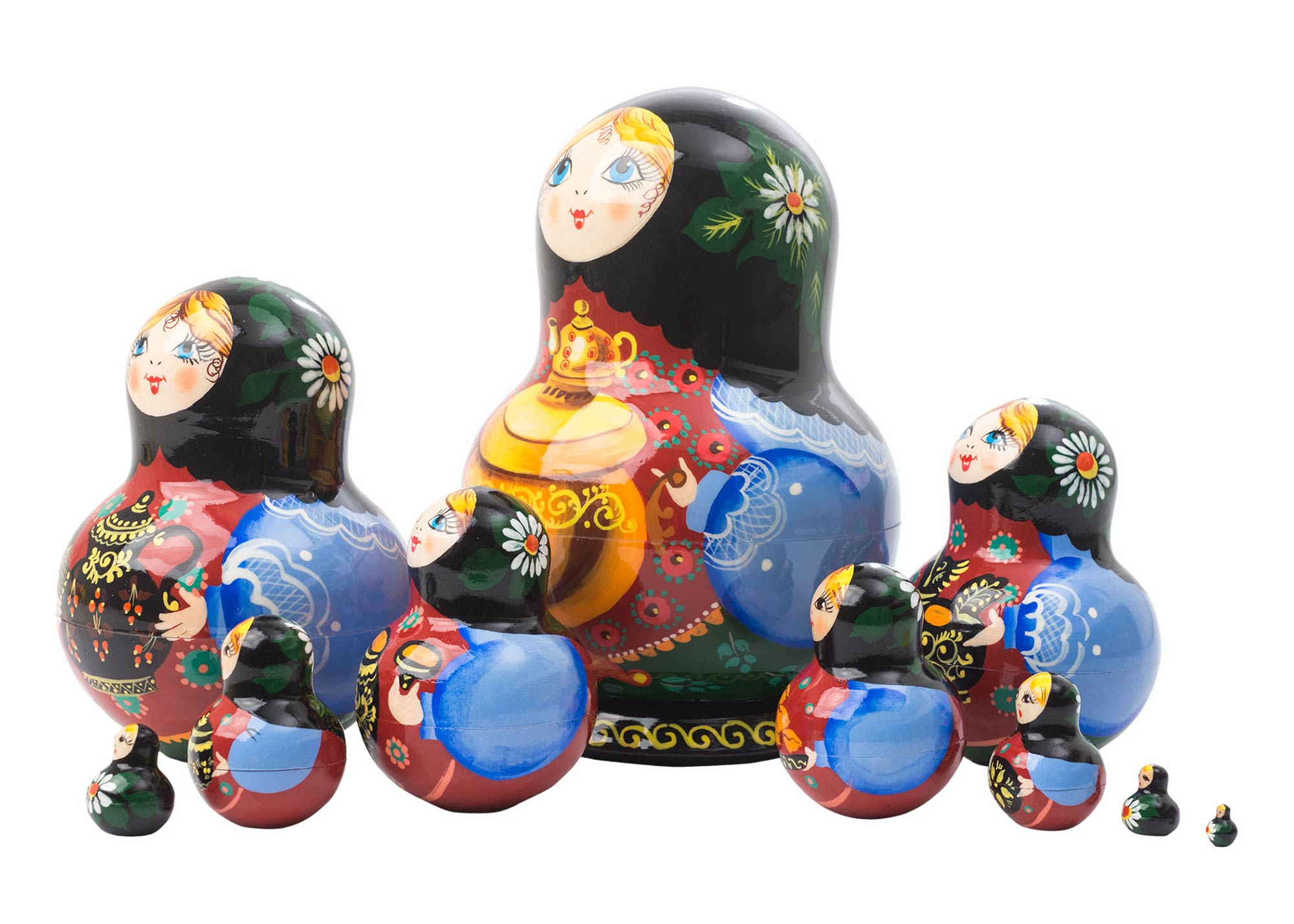 "Buy Samovar Nesting Doll 10pc./5"" at GoldenCockerel.com"