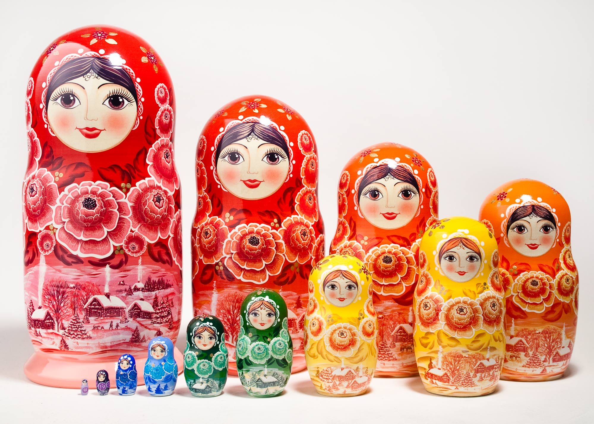"Buy Colorwheel Nesting Doll 12pc./11"" at GoldenCockerel.com"