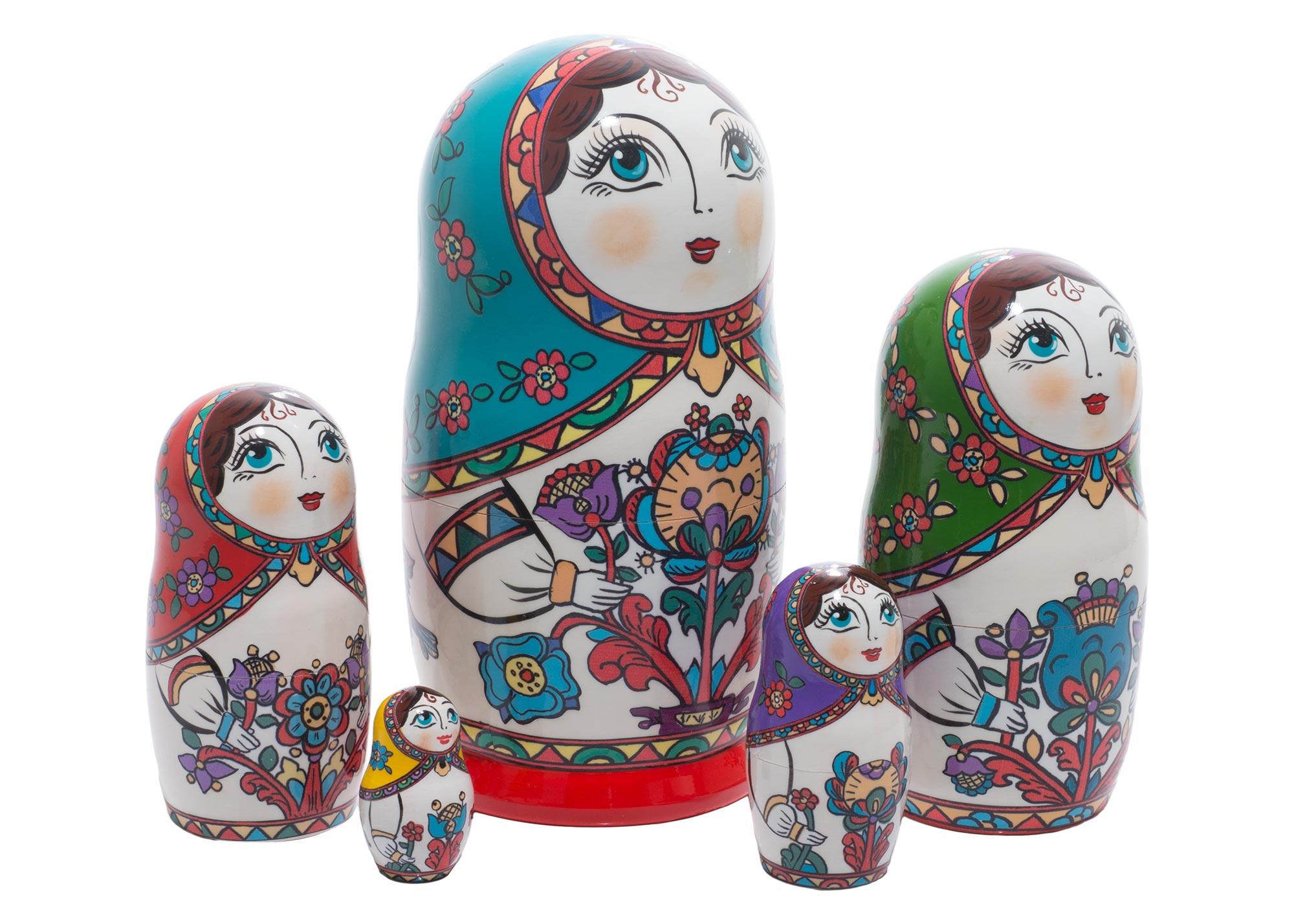 "Buy Northern Folk Style Nesting Doll 5pc./6"" at GoldenCockerel.com"