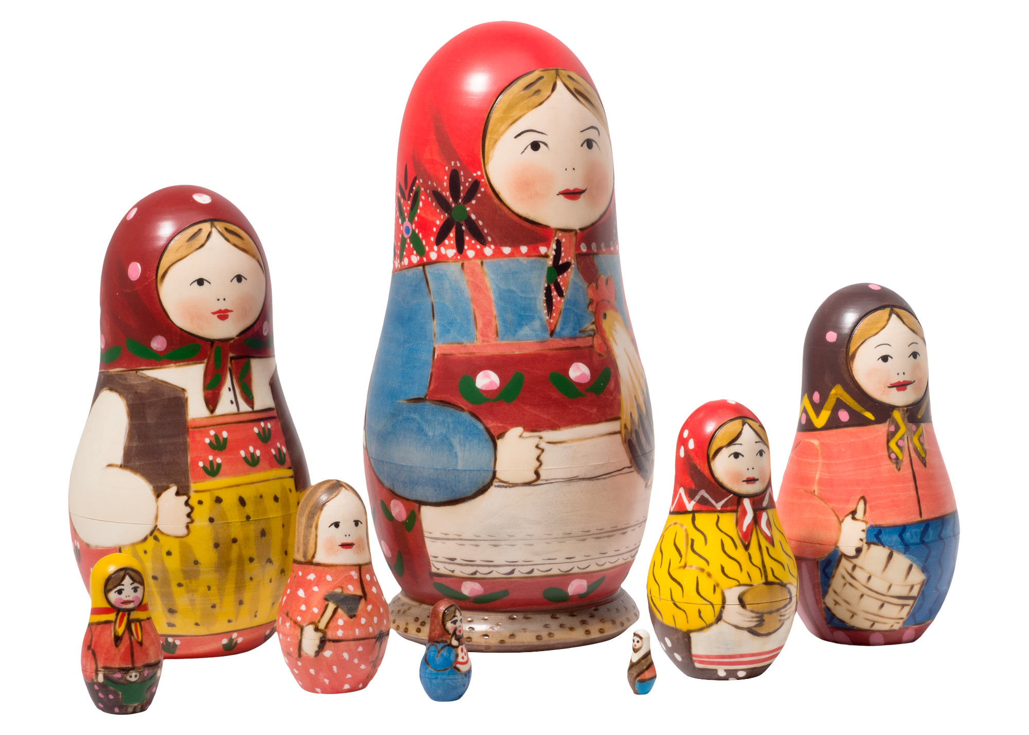 "Buy Peasant Matriarch Doll 8pc./7"" - The First Nesting Doll at GoldenCockerel.com"