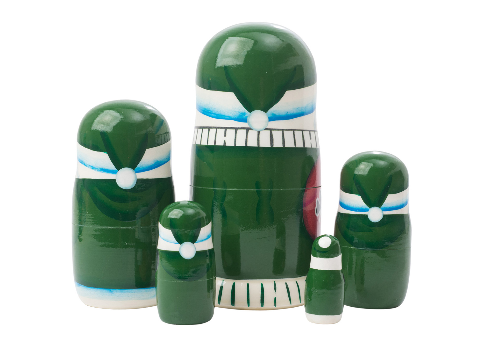 "Buy Irish Santa Nesting Doll 5pc./5"" at GoldenCockerel.com"