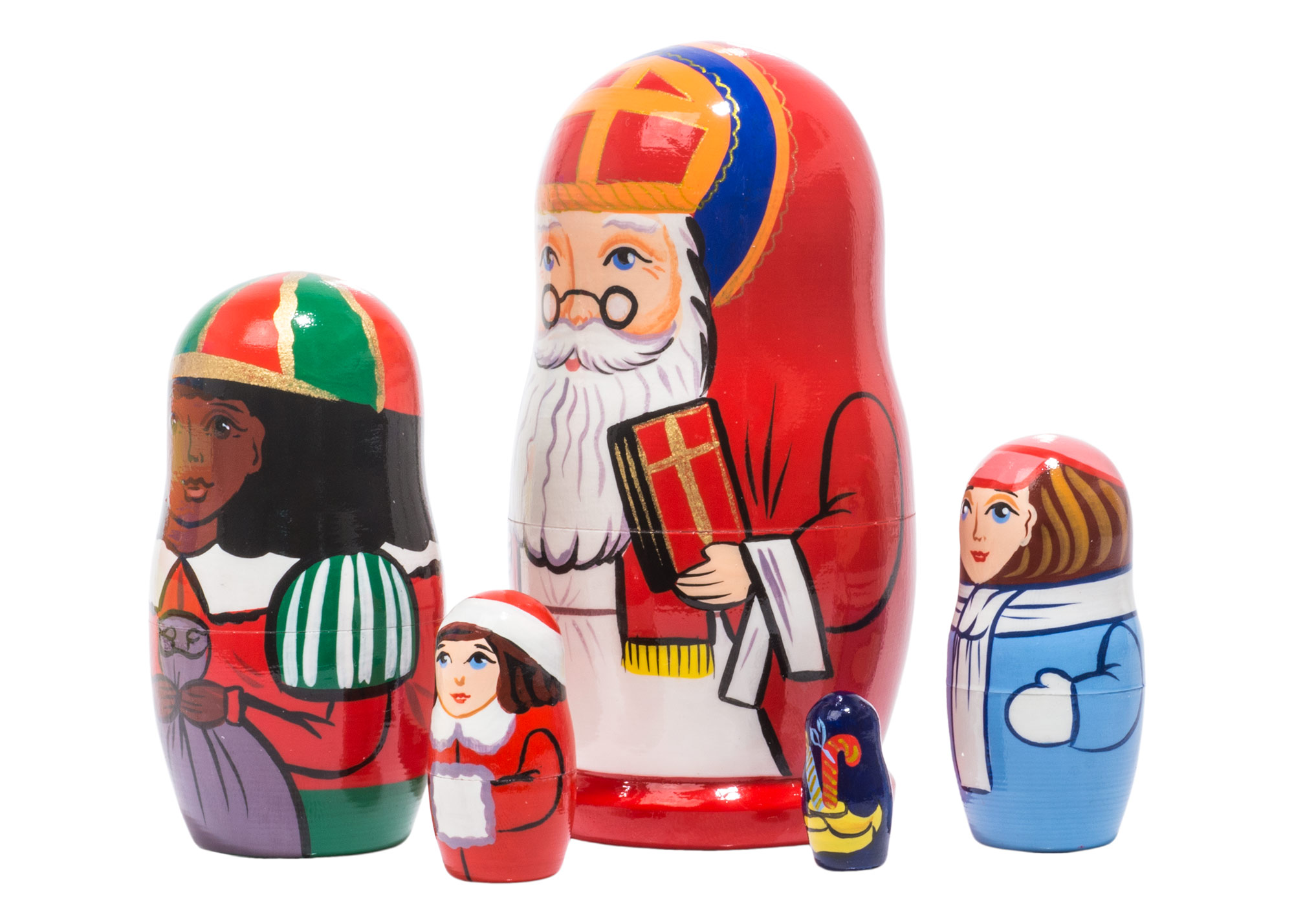 "Buy Sinter Klaas Nesting Doll 5pc./4"" at GoldenCockerel.com"