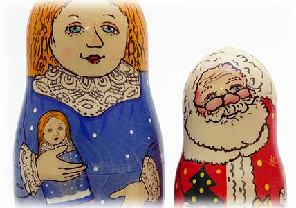 "Buy Snow Maiden's Gift Nesting Doll 5pc/6"" at GoldenCockerel.com"