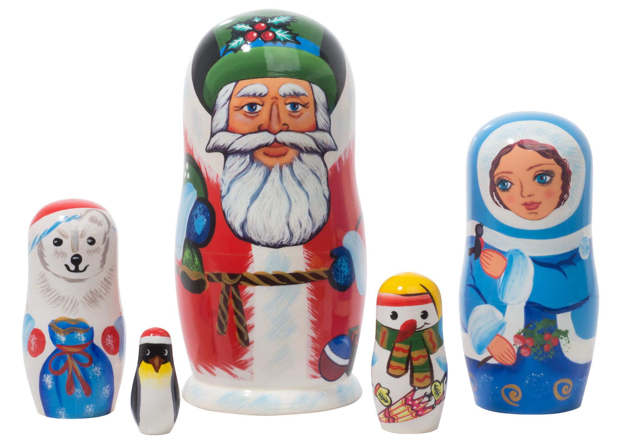 "Buy Polar Christmas Nesting Doll 5pc/5"" at GoldenCockerel.com"