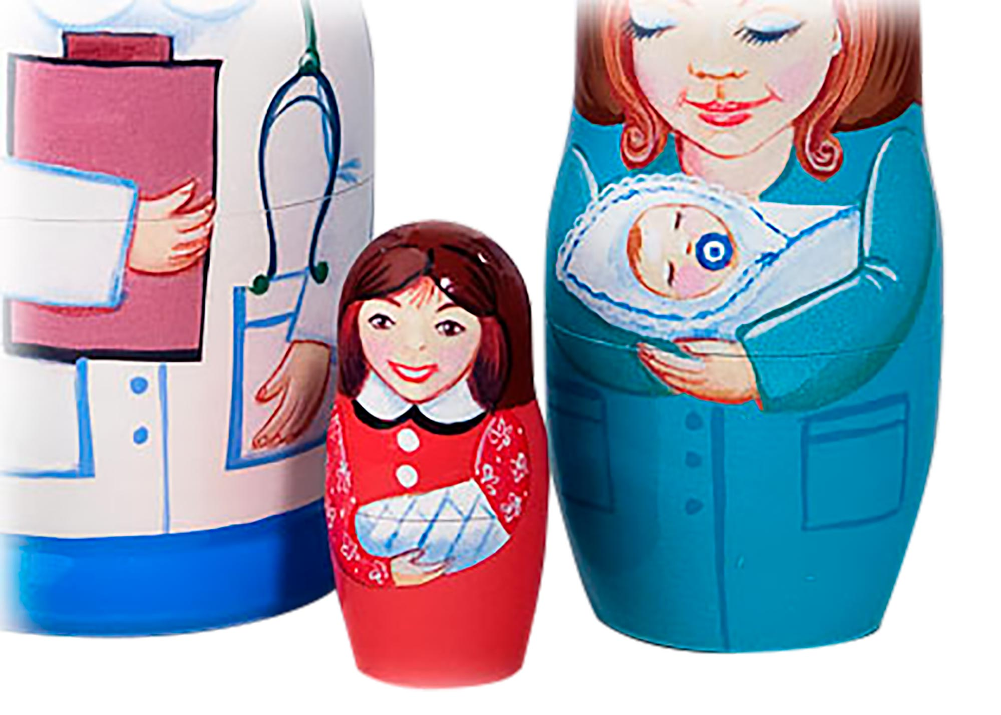 "Buy Nurse Nesting Doll 5 pc./5"" at GoldenCockerel.com"