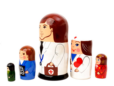 "Buy Doctor Nesting Doll 5pc./5""  at GoldenCockerel.com"