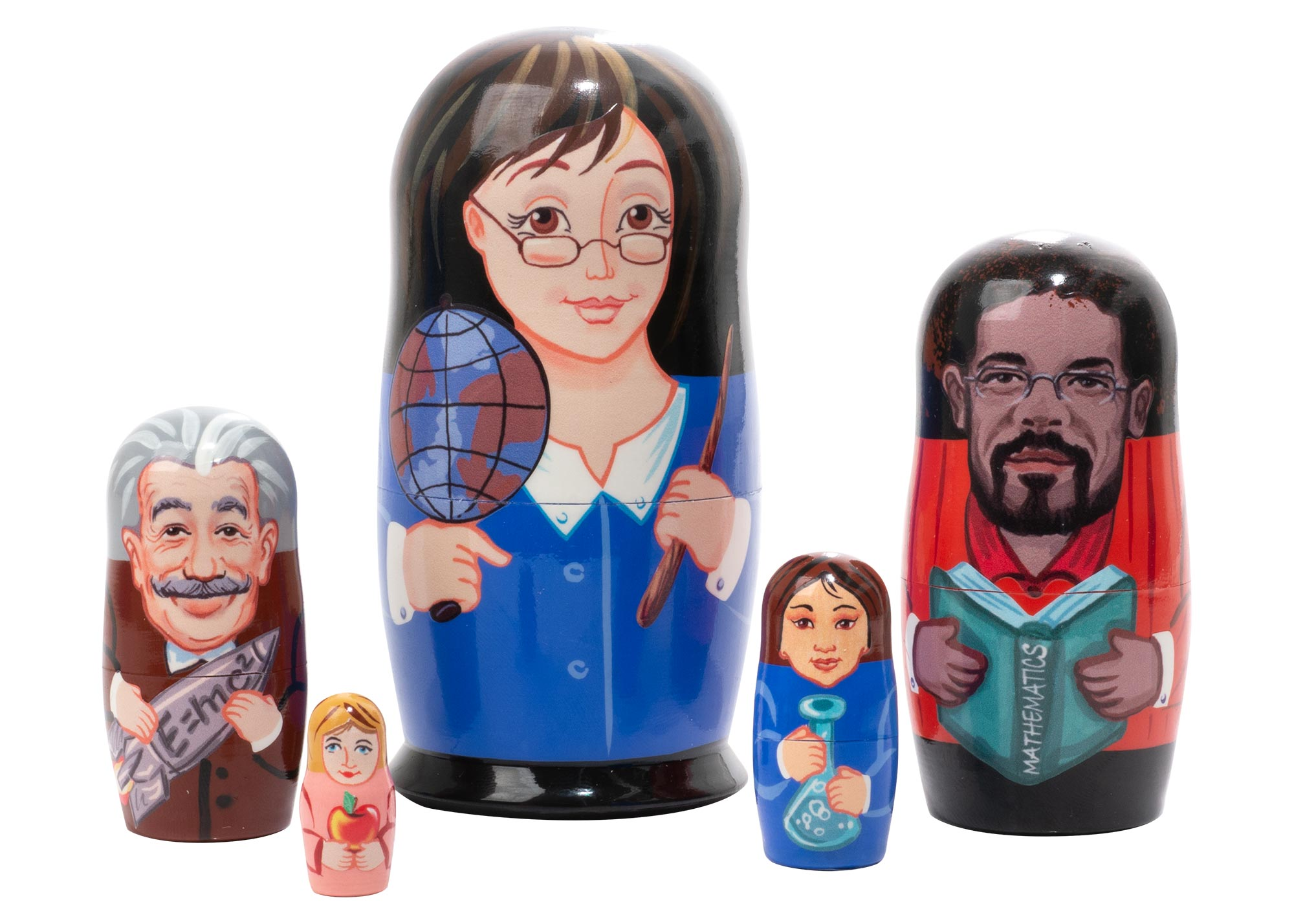 "Buy School Teachers Educator Nesting Doll 5 pc./4""  at GoldenCockerel.com"