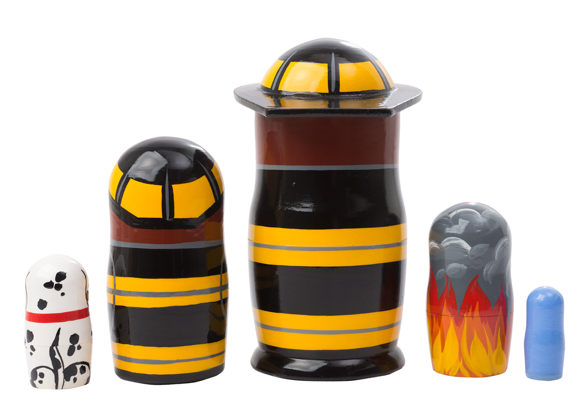 "Buy Firefighter Nesting Doll 5pc./5"" at GoldenCockerel.com"