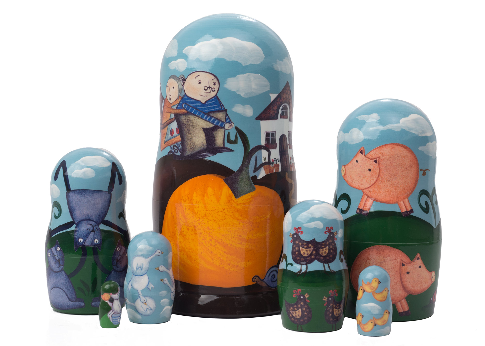 "Buy Gigantic Turnip Nesting Doll 7pc./6"" at GoldenCockerel.com"