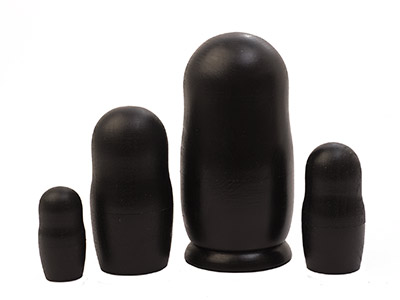 "Buy Chalkboard Matryoshka Doll 4pc./5"" at GoldenCockerel.com"