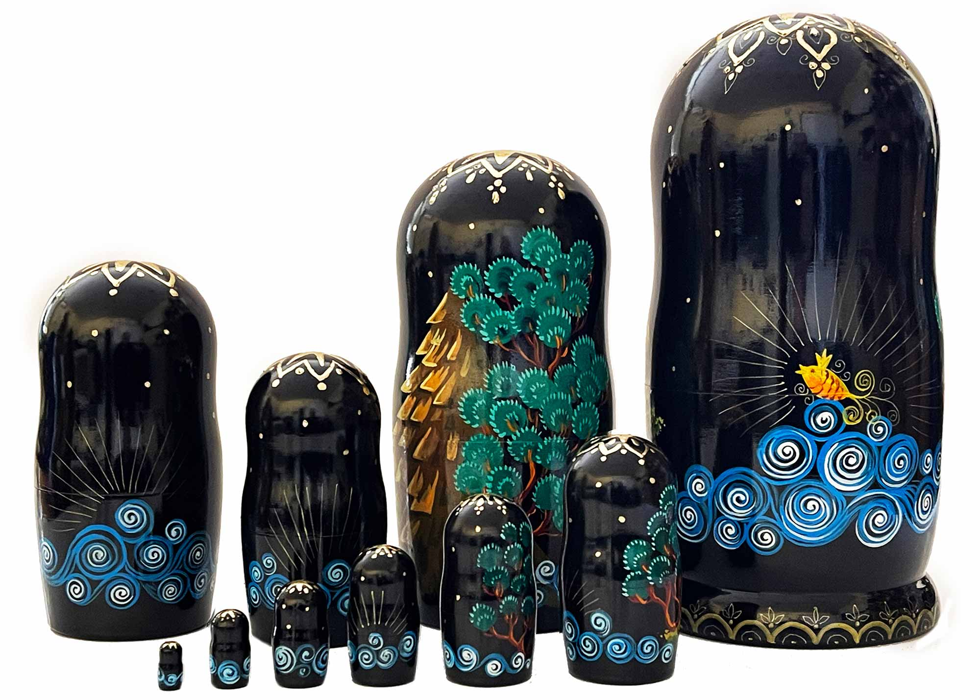 "Buy Gold Fish Fairy Tale Nesting Doll 10pc./10"" at GoldenCockerel.com"