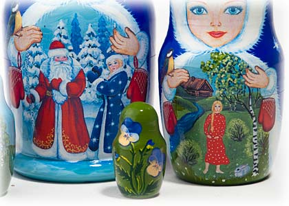 "Buy Snow Maiden Fairy Tale Nesting Doll 5pc./6"" at GoldenCockerel.com"