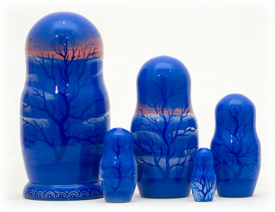 "Buy Emelya and the Magic Pike Nesting Doll 5pc./6"" at GoldenCockerel.com"