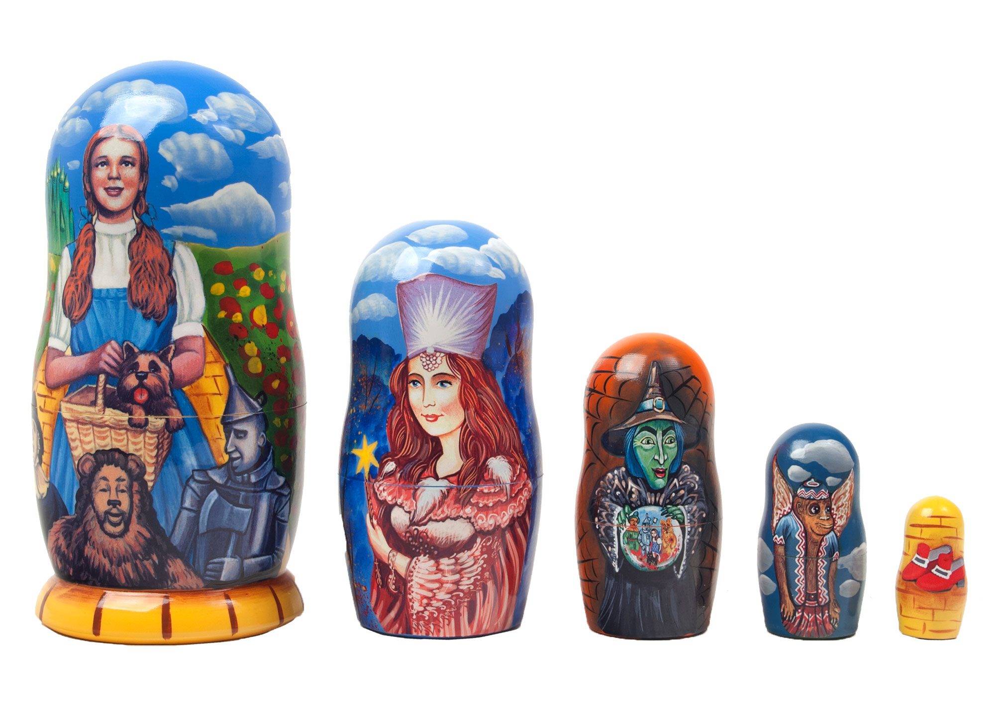 "Buy The Road to Oz Nesting Doll 5pc./6"" at GoldenCockerel.com"