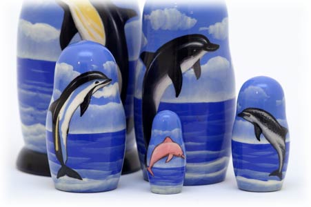 "Buy Dolphin Nesting Doll 5pc./5"" at GoldenCockerel.com"