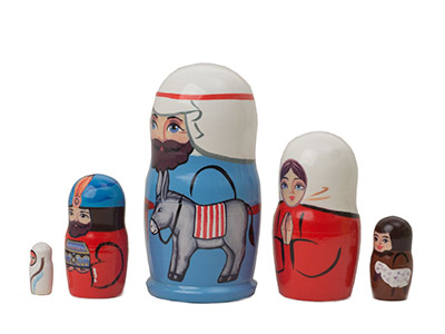 "Buy Baby Jesus Nesting Doll 5 pc./4 "" at GoldenCockerel.com"