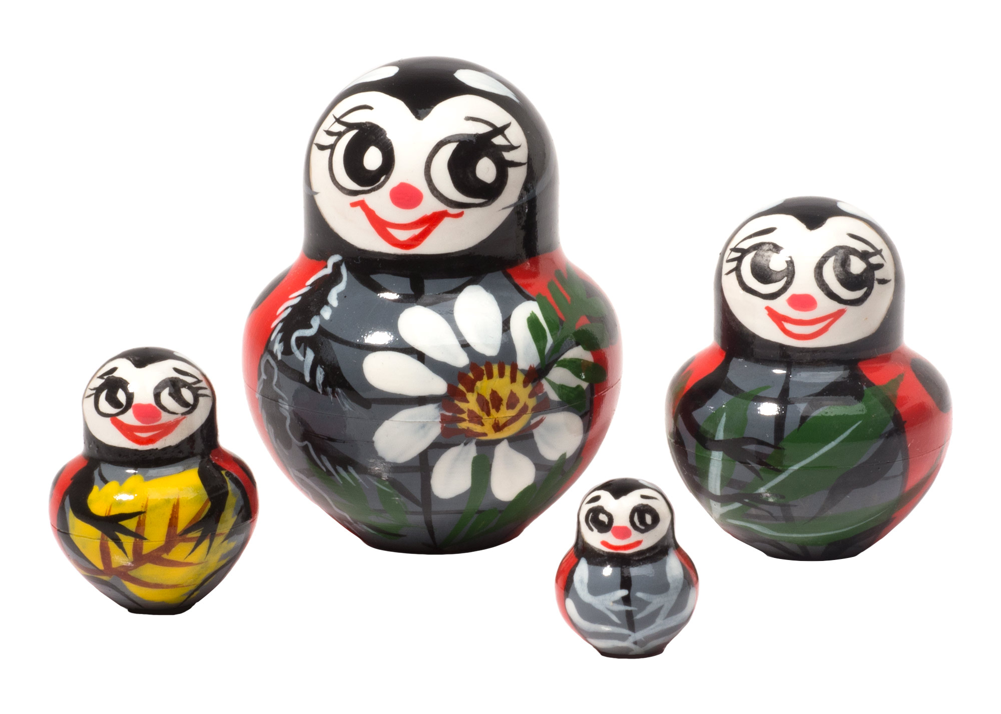 "Buy Ladybug Nesting Doll 4pc./2.25"" at GoldenCockerel.com"