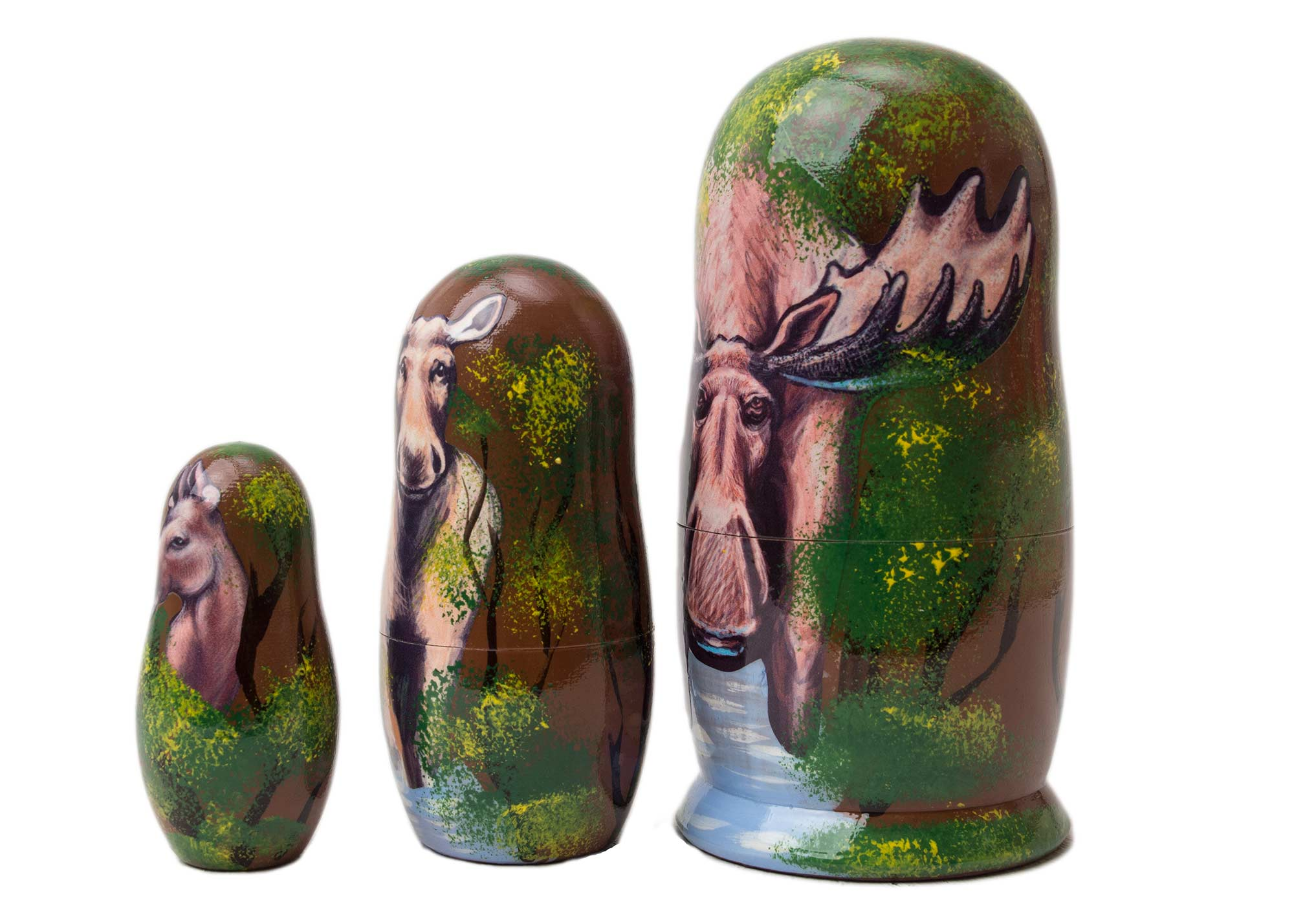"Buy Moose Nesting Doll 3pc./3.5"" at GoldenCockerel.com"