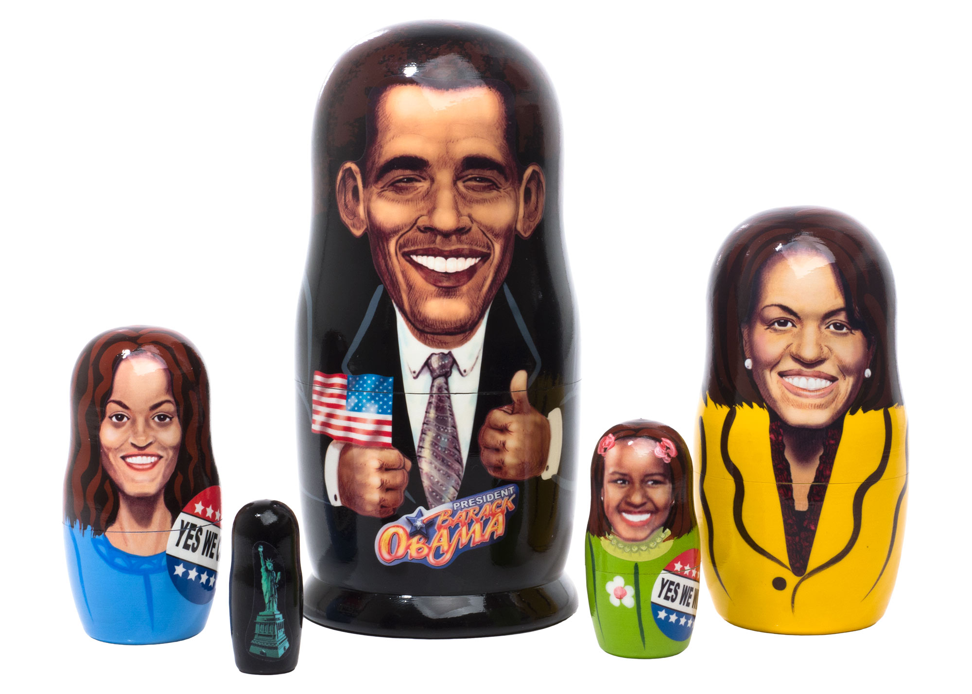"Buy President Obama Nesting Doll 5pc./6"" at GoldenCockerel.com"
