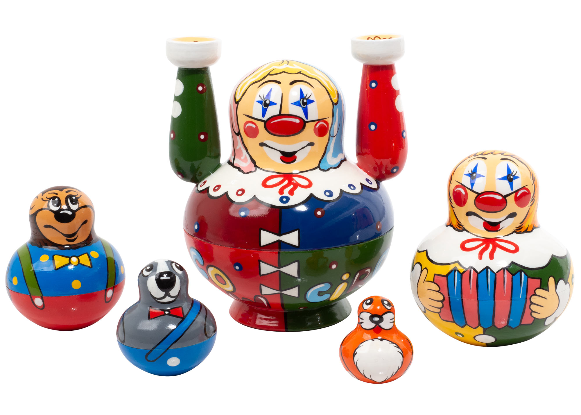 "Buy Moscow Circus Nesting Doll 5pc./5""  at GoldenCockerel.com"