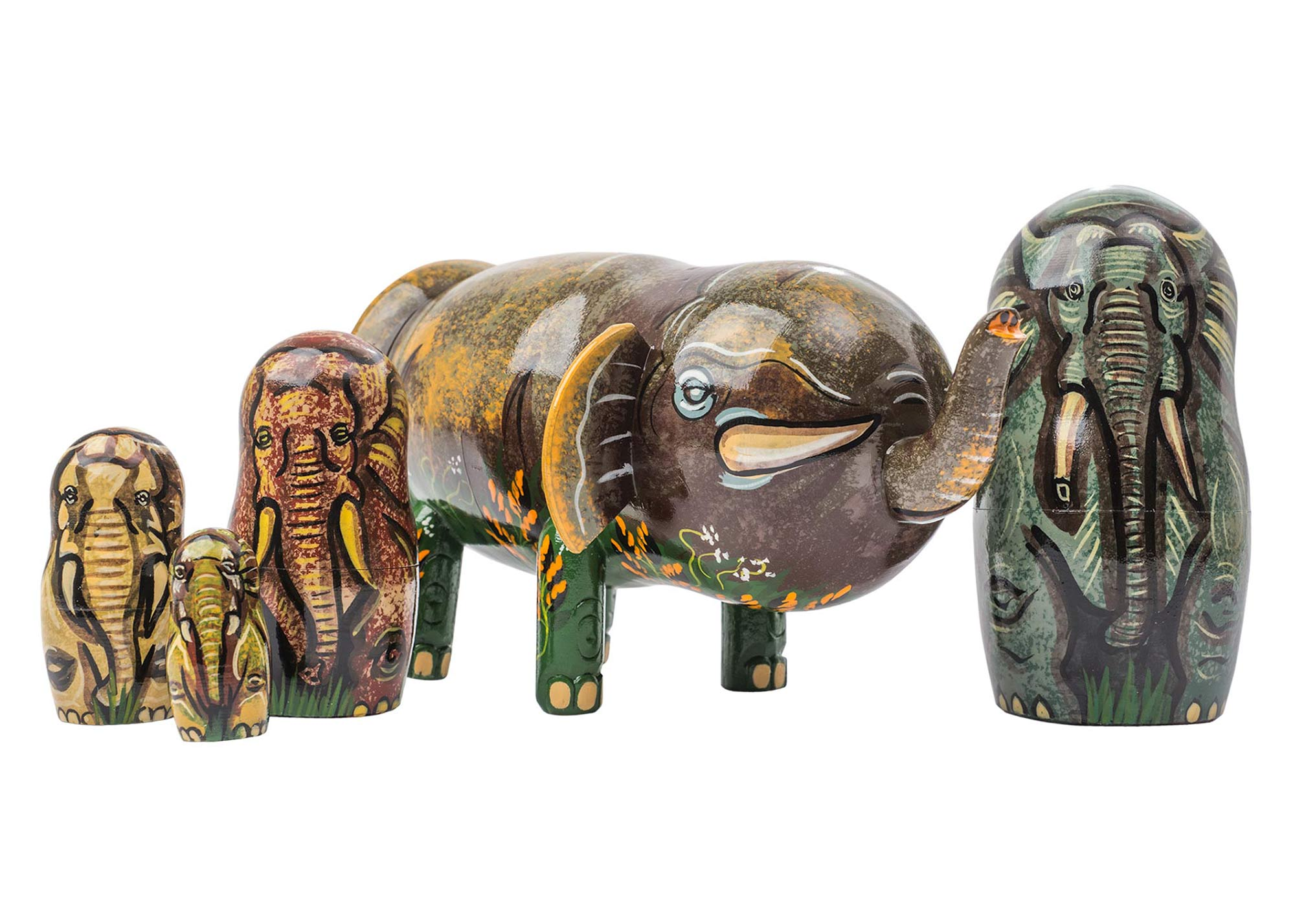"Buy Elephant Herd Nesting Doll 5pc./6"" at GoldenCockerel.com"