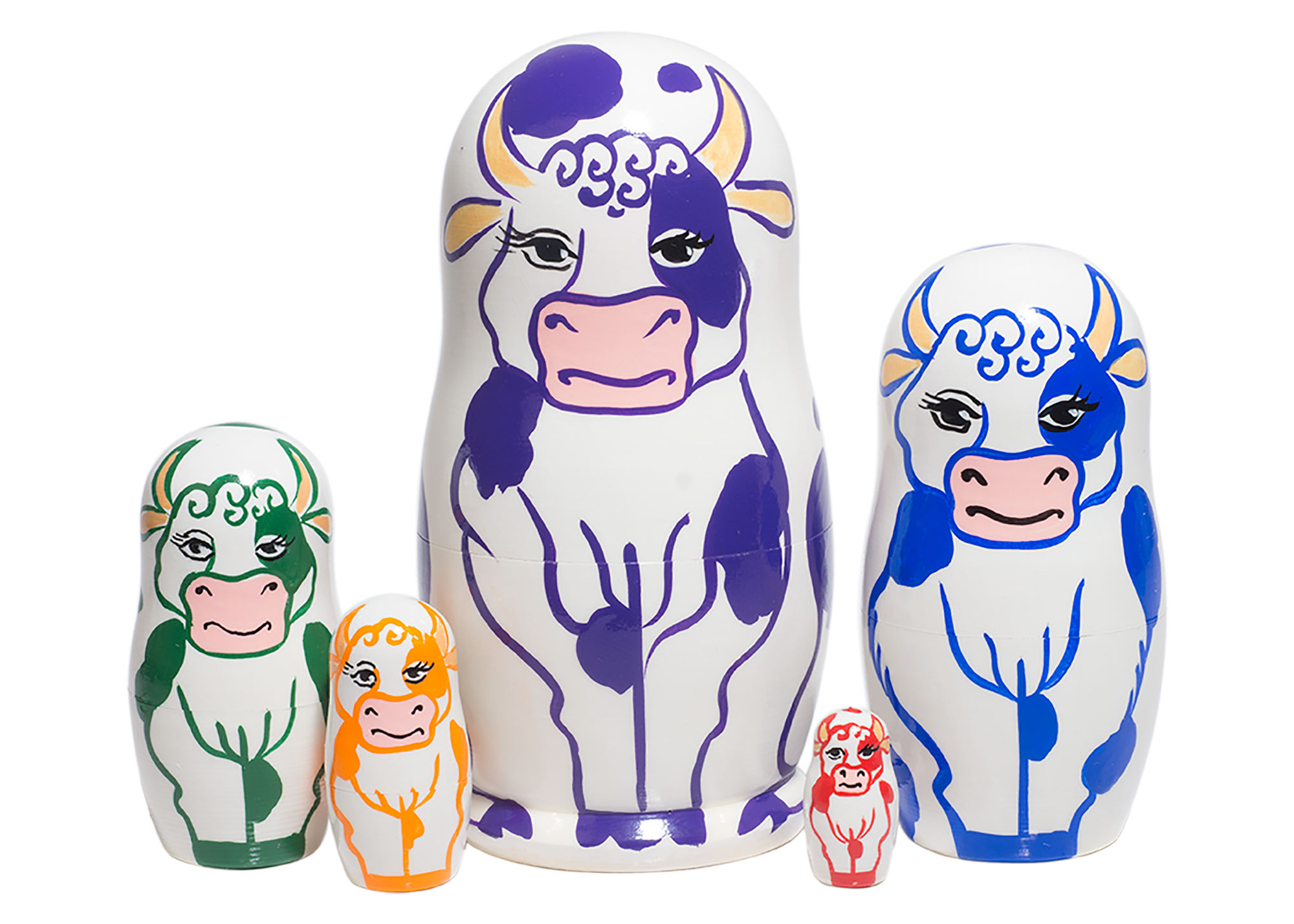 "Buy Purple Cow Doll 5pc./4"" at GoldenCockerel.com"