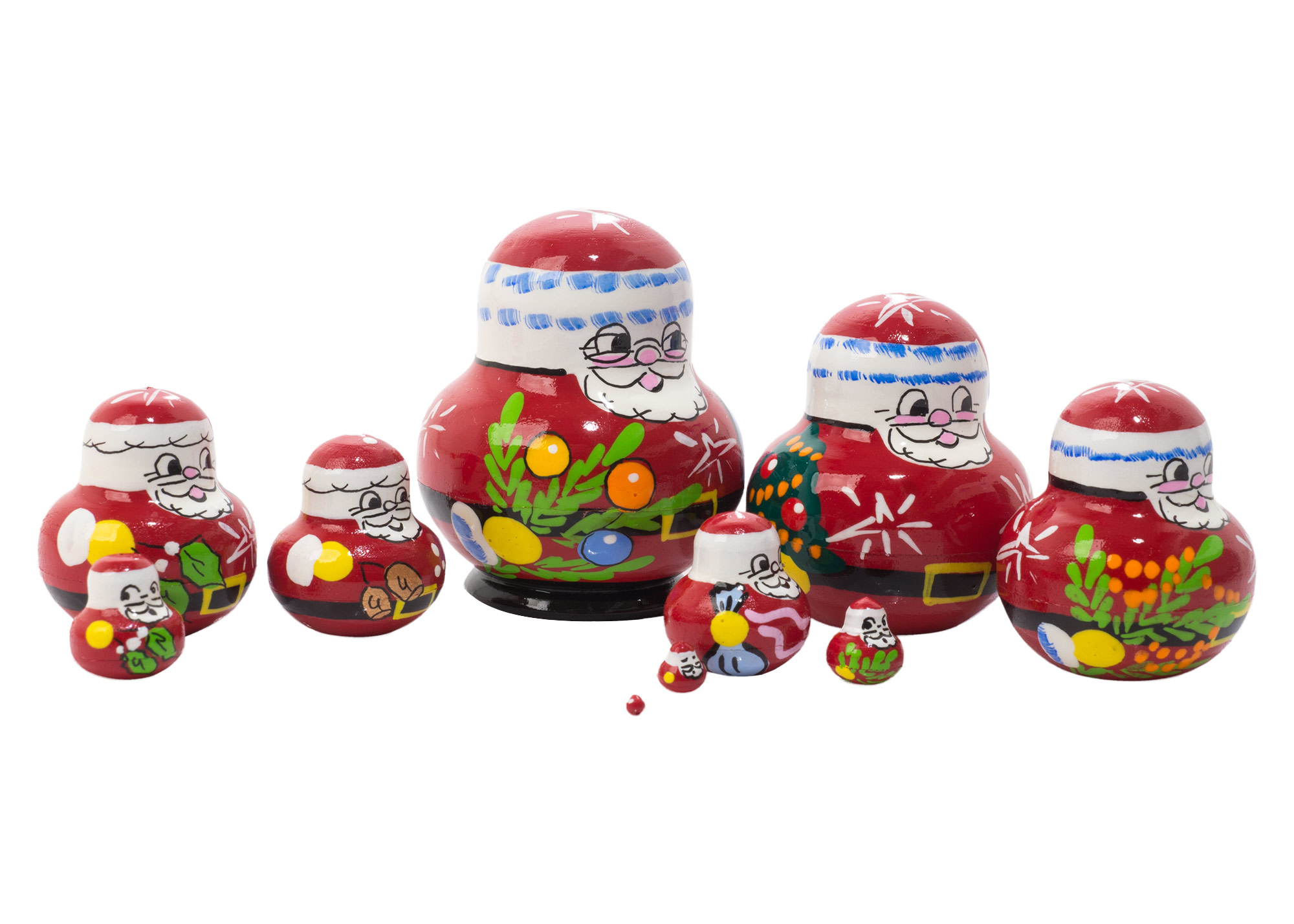 "Buy Mini Father Frost Nesting Doll 10pc./1.5"" at GoldenCockerel.com"