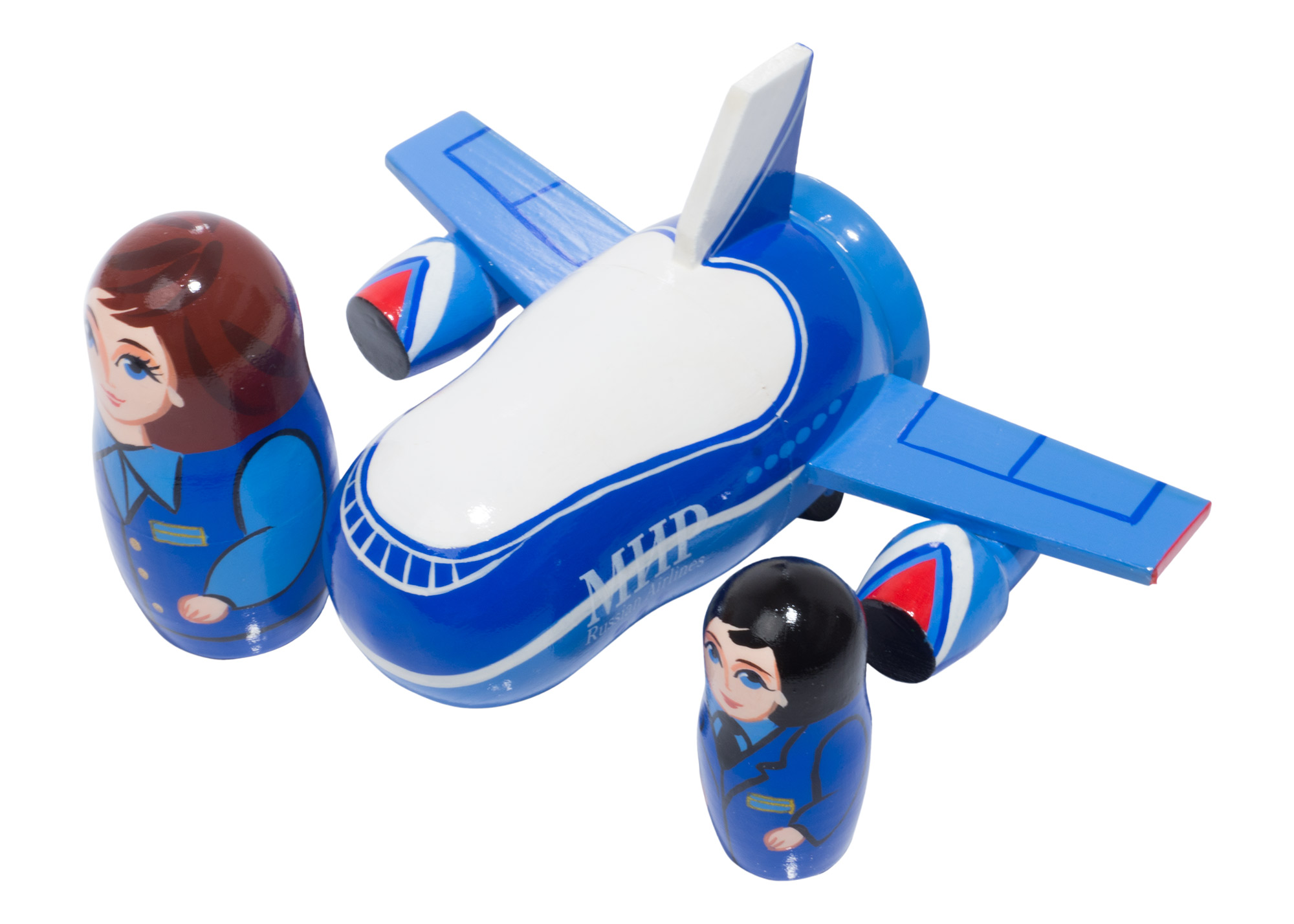 "Buy MIR Airplane Nesting Doll 3pc./4"" at GoldenCockerel.com"