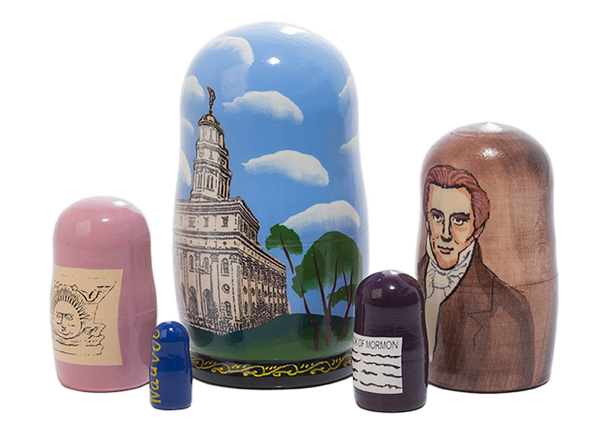 "Buy Nauvoo Nesting Doll 5pc./4"" at GoldenCockerel.com"