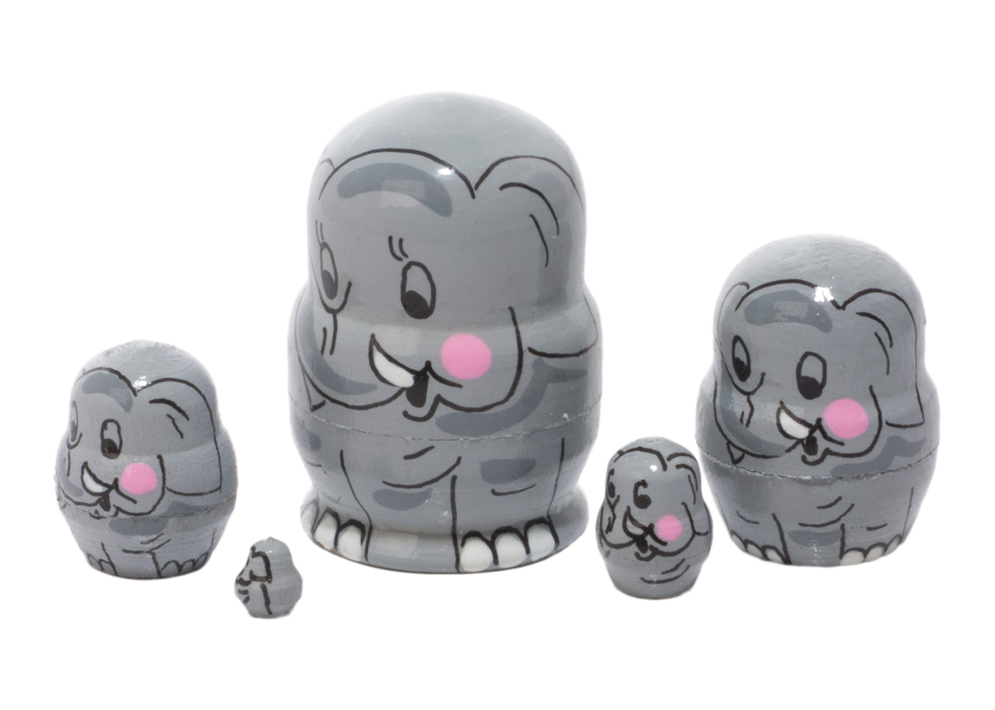 Buy Mini Elephant Doll 5pc/1in at GoldenCockerel.com