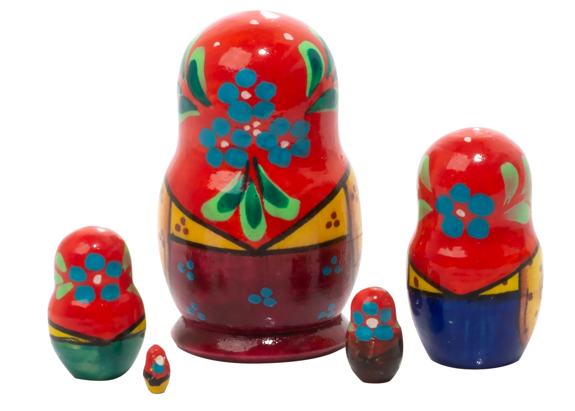 "Buy Large Mini Matryoshka Doll Holding Cats 5pc./2"" at GoldenCockerel.com"