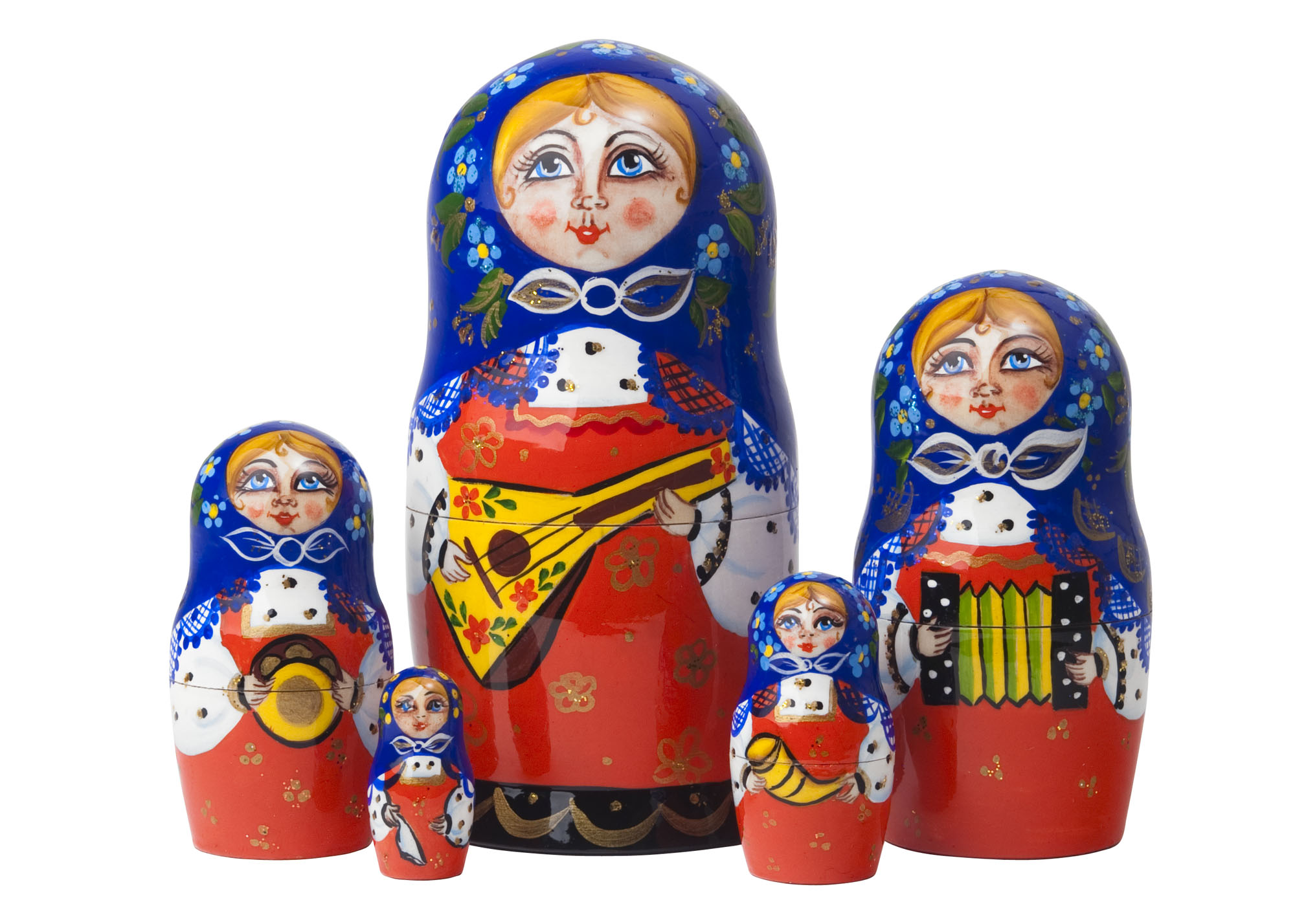 "Buy Balalaika Classical Doll 5pc./6"" at GoldenCockerel.com"