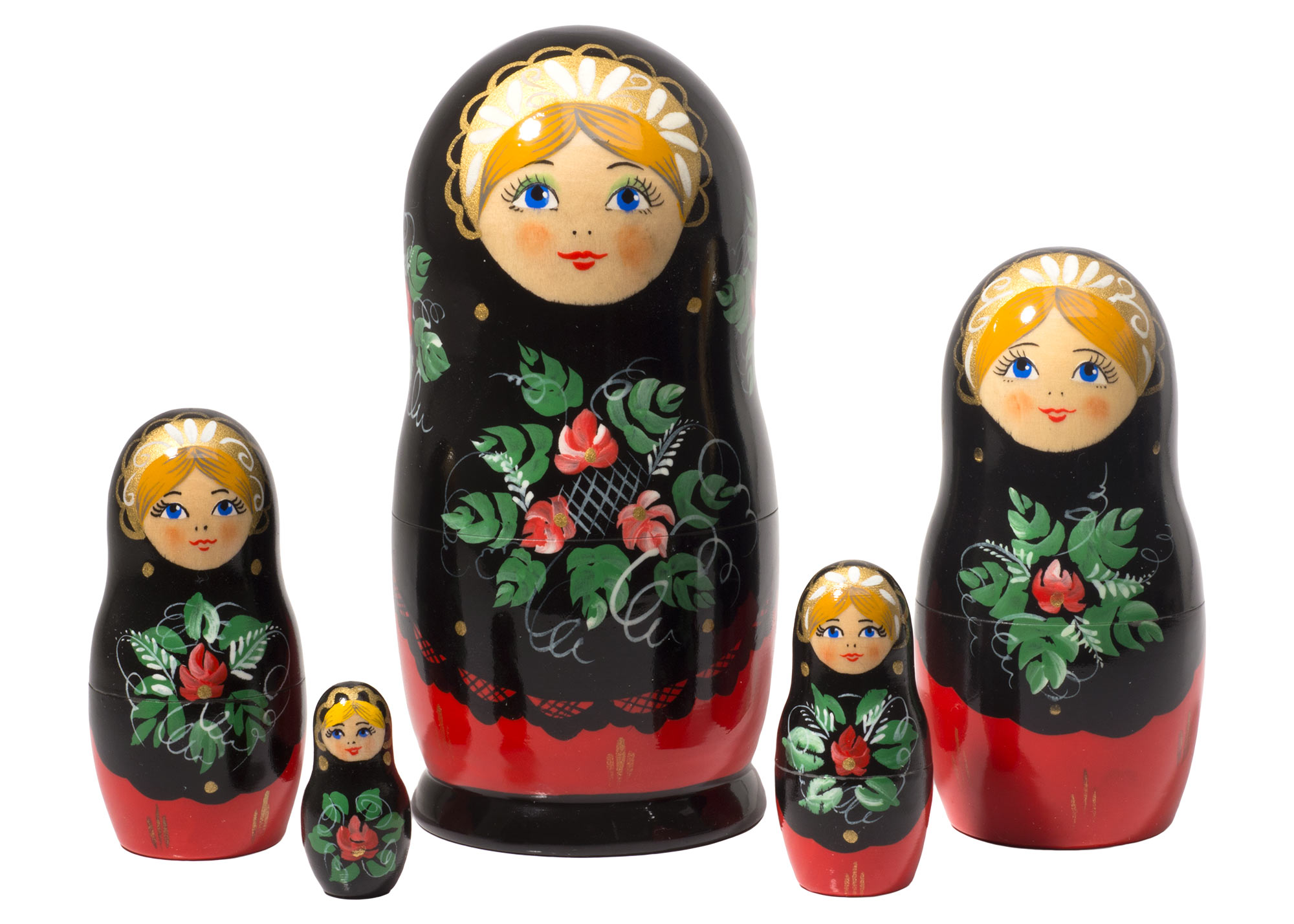 "Buy Red & Black Classical Doll 5pc./6"" at GoldenCockerel.com"