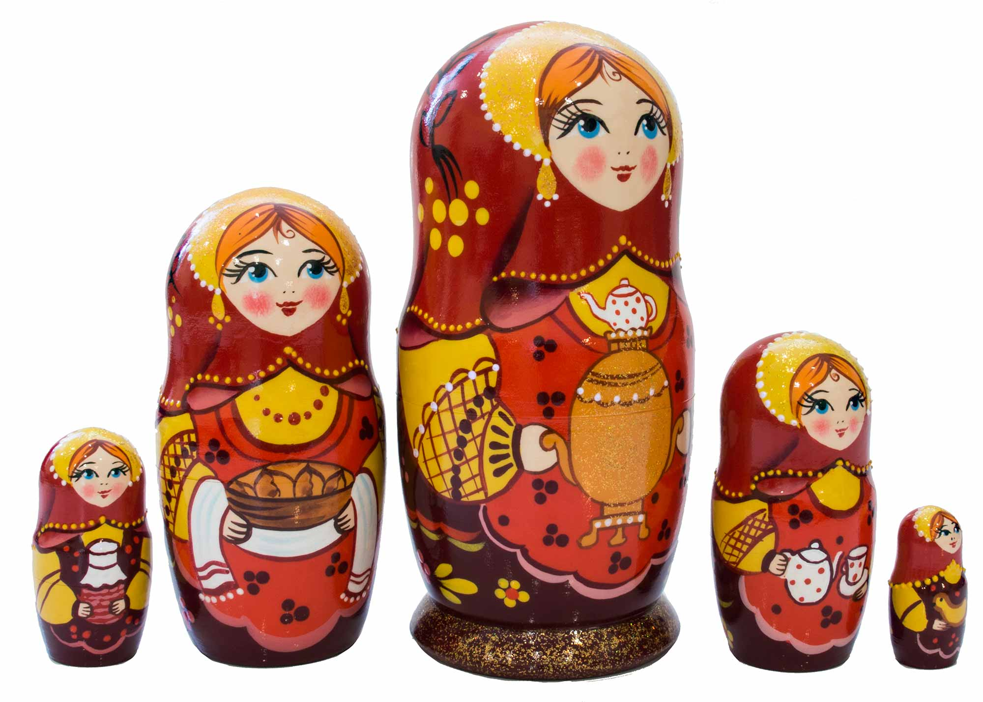 "Buy Gold Samovar Classical Nesting Doll 5pc./6"" at GoldenCockerel.com"